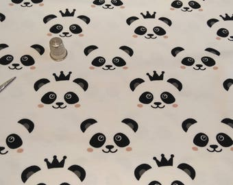 The meter-Panda organic cotton Jersey fabric