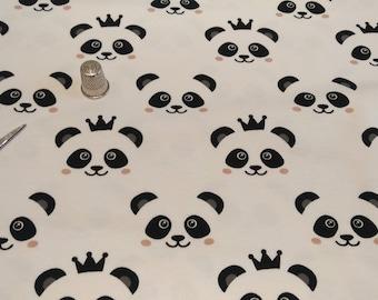 The meter-Panda organic cotton Jersey fabric