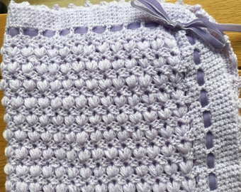 Lilac Pram Cover/ baby gift/Baby Blanket