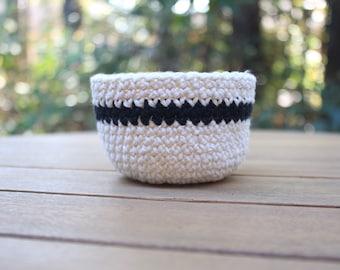 Crochet Basket - Decorative Basket - Storage Basket - Decorative Bowl
