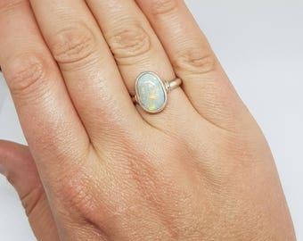 Coober Pedy Australian Opal Ring 034G