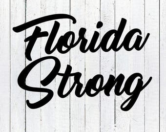 Florida Strong, Hurricane Irma, Florida Irma, Florida Strong Sign, Florida Strong Shirt, Vector, SVG, Cut File, Print, Vinyl, Sticker