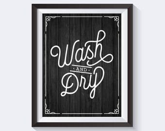 Laundry SVG, Laundry Sign, Wash Dry Sign, Magnolia Market Sign, Wash Dry Print, Cuttable, Digital File, DXF, Print, Cut File, Fixer Upper