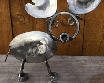 Moose, Recycled Metal Sculpture