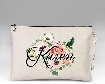 Bride Makeup Bag, Bridal Gift, Personalized Wedding Gift, Bridal Shower Gift, Bride Gift, Makeup Bag, Wedding Gift, Bridal makeup Bag, Bride