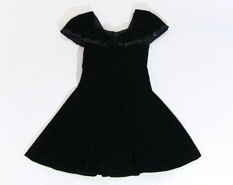 Black velvet 90s dress by Jump Apparel Co.