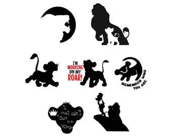 Lion king svg Simba svg Lion svg Disney svg Disney family svg Vector file Disney files silhouette digital svg eps png dxf