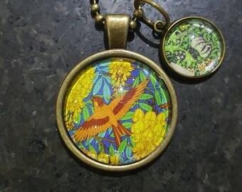 Bird Antique Bronze Pendant Necklace