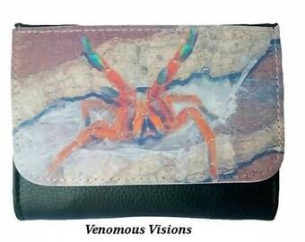 The orange baboon tarantula wallet