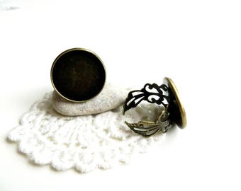 2 support rings lace bronze 20mm