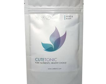 Cutetonic® Spirulina 100% Pure Powder Organically-Sourced