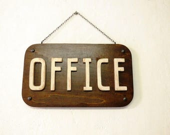 Wooden Signboard Office