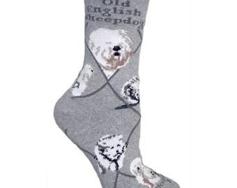 Old English Sheepdog Dog Breed Lightweight Stretch Cotton Adult Socks