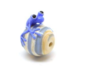 Lampwork bead - frog - single bead