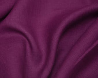 100% Linen Purple Color  Fabric, Softened 1 meter/1,1 yard