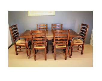 Dining table and chairs set.