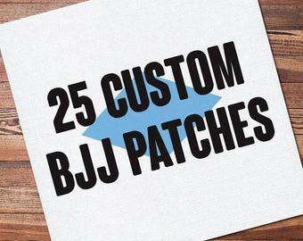 "25 Custom Full Color Brazilian Jiu Jitsu Patch for your Gi Kimono Uniform BJJ, Grappling, Martial Arts and MMA 12"" x 12"""