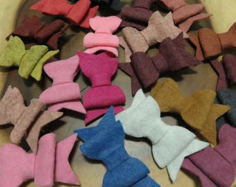Stiffened Felt Bow Grab Bag 3 bows