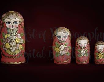 Red Matryoshka Dolls