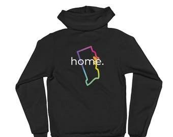 Rhode Island Home Zip Up Hoodie