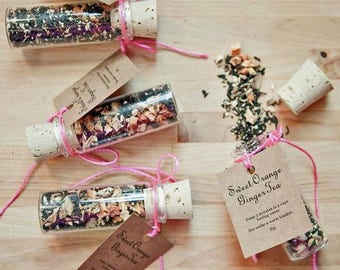 Party Favours, take home, cup of tea, all natural