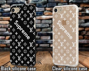 Black Supreme case iPhone matte cover Black silicone case Samsung A5 black case Louis Vuitton black case Galaxy S6 case Galaxy A3 black case