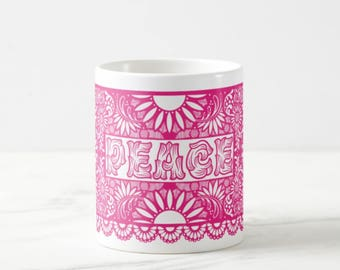 Papel Picado - Papel Picado Banner Big Coffee Mug Unique Coffee Mug Coffee Lover Gift Gift for Teacher Holiday Gift Cheap Christmas Gift