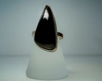Black Cabochon Ring 2