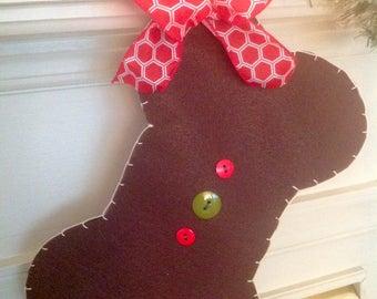 "Pet Christmas Stocking - ""Deck the Dog House"""