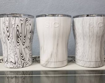 12 OZ SIC cups engraved to customer liking