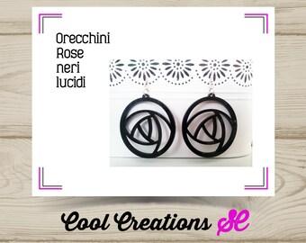 Black Plexiglas Earrings