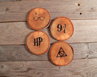 Rustic - Harry Potter coasters