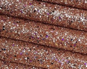 Gold Rush Premium Quality Chunky Glitter Fabric Sheet