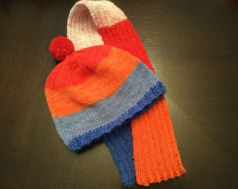 Child's hat and scarf Cherry on Top #1