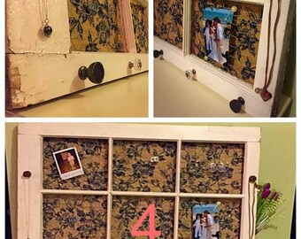 Wooden Jewelry Window Frame