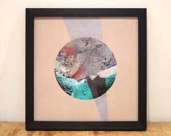 Circled - Digital Collage Art Print Poster