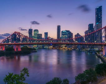 Brisbane City at Dusk Print