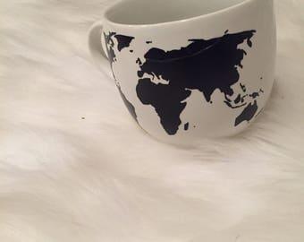 World map travel mug etsy map of the world mug sciox Image collections