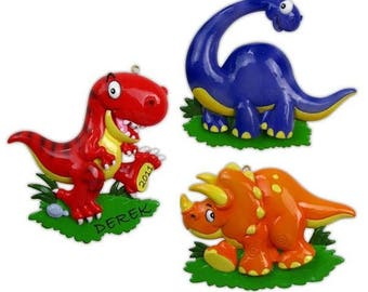 Dinosaur (3 Kinds) Personalized Christmas Ornament - Each Sold Separately