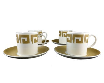 Keystone Set of four cups & Saucers from Susie Cooper