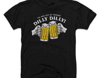 Dilly Dilly (Men's Cotton) T-Shirt | Drinking And Bud Light Themed Apparel | Dilly Dilly WHT