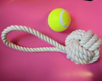 Rope Knot Dog Toy- Cotton