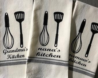 Personalized Retro Kitchen Towels