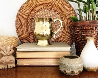 Vintage Boho Style Brass Mug Cup