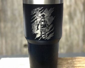 Firefighter Into The Inferno 30oz Tumbler