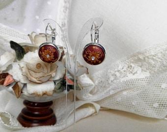 Fimo Monachella Earrings/Fimo Earrings/Auburn Monachella Earrings