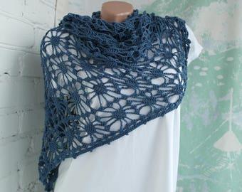 Boho crochet shawl Gypsy shawl Crochet shawl Lace crochet shawl Beach shawl Boho shawl Bohemian shawl Triangle shawl
