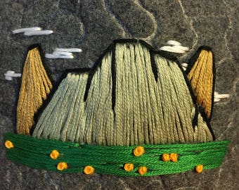 Handmade Embroidered Trucker Hat : Mountain Series, Mountain Art, Hats for men, Hats for women, gifts for her, gifts for girlfriend, outdoor
