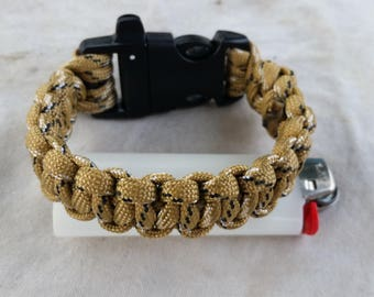 Hand-Crafted 550-Test Paracord Bracelet (8.5 inch ID).
