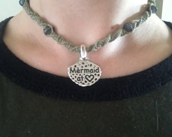 Mermaid hemp necklace